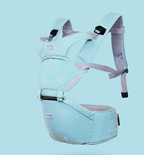 TINERS Tintureros Portabebés con Cadera Asiento multifunción Mochila ergonómica para bebés 3-36 Meses Cuatro Estaciones con artefacto para bebés,Mintblue