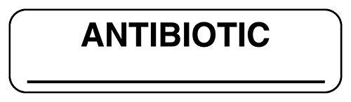 Anesthesia Label, Antibiotic, 1-1/4