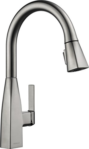 Peerless Xander Single-Handle Kitchen Sink Faucet with Pull Down Sprayer, Stainless P7919LF-SS