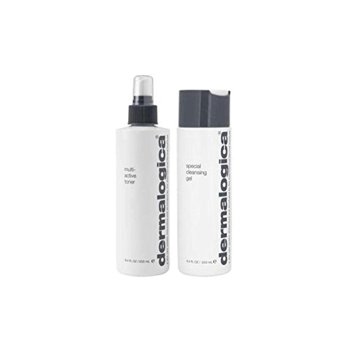 枯渇するイソギンチャクミンチダーマロジカクレンジング&トーンデュオ - ノーマル/ドライスキン(2製品) x4 - Dermalogica Cleanse & Tone Duo - Normal/Dry Skin (2 Products) (Pack of 4) [並行輸入品]