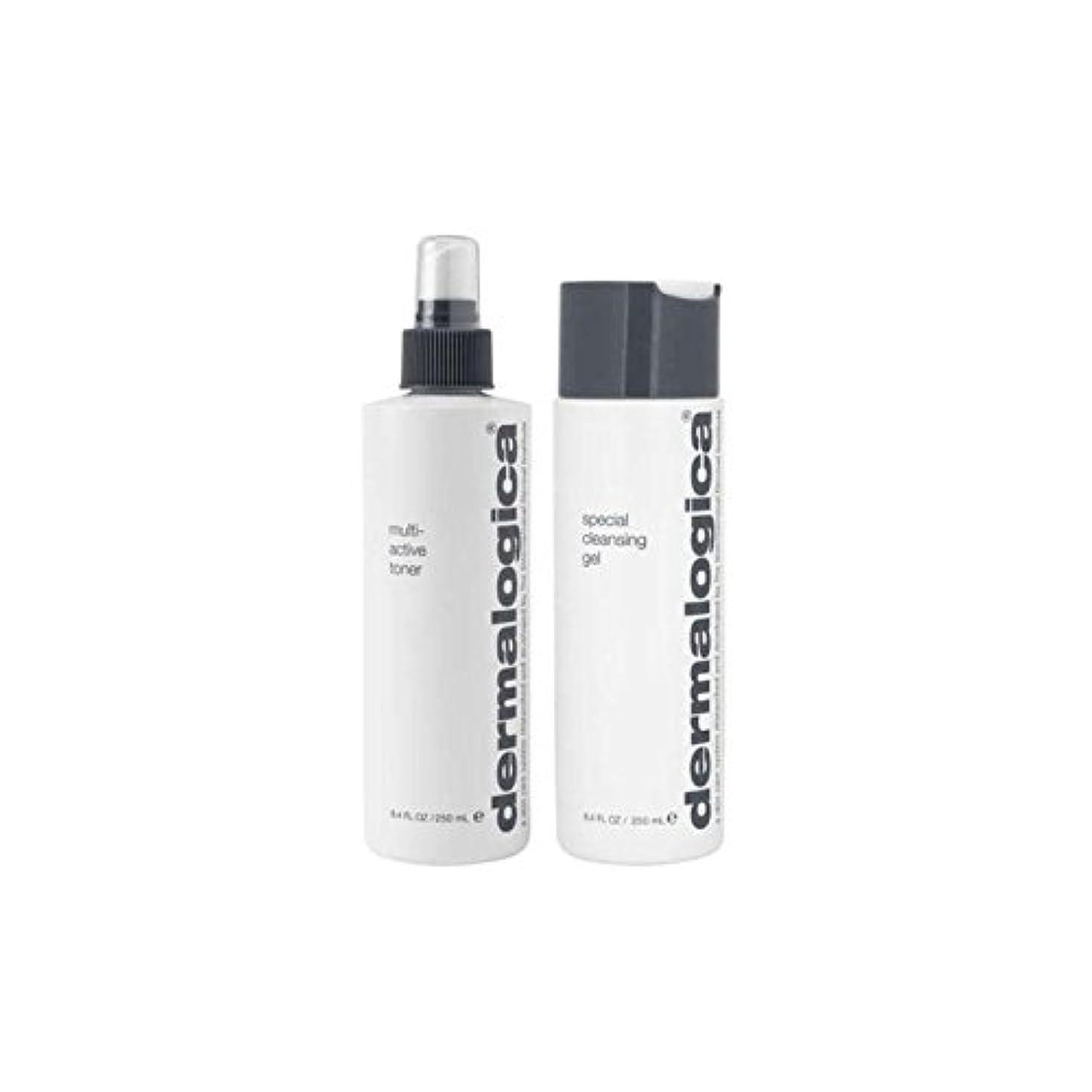 あごひげ母性アカデミーダーマロジカクレンジング&トーンデュオ - ノーマル/ドライスキン(2製品) x4 - Dermalogica Cleanse & Tone Duo - Normal/Dry Skin (2 Products) (Pack of 4) [並行輸入品]