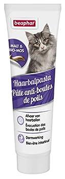 BEAPHAR – Pâte anti boules de poils au Malt pour chat – Complément alimentaire – Favorise l'évacuation naturelle des boules de poils – Meilleure santé intestinale – Tube 100 g