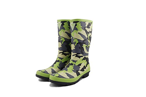 LAPPS Camouflage Damen/Mädchen Gummistiefel/Regenstiefel aus Naturkautschuk - Designed in Finnland, Green Camouflage, 37 EU