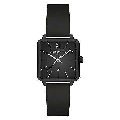 Liebeskind Berlin Damen Analog Quarz Uhr mit Leder Armband LT-0179-LQ