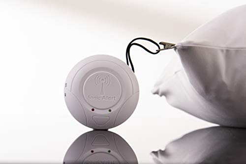 Sonic Alert Sonic Bomb Portable Bluetooth Wireless Alarm Super Bed Shaker Alarm - SS125BT | Powerful Vibrating Alarm w/ Android, iPhone App | Wake with a Shake Even The Heaviest Sleepers