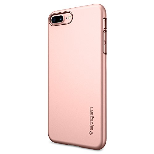 Spigen Cover iPhone 7 Plus, Cover iPhone 8 Plus, Custodia [Thin Fit] Dura del PC Premium Trasparente per iPhone 7 Plus 2016 - Rose Gold