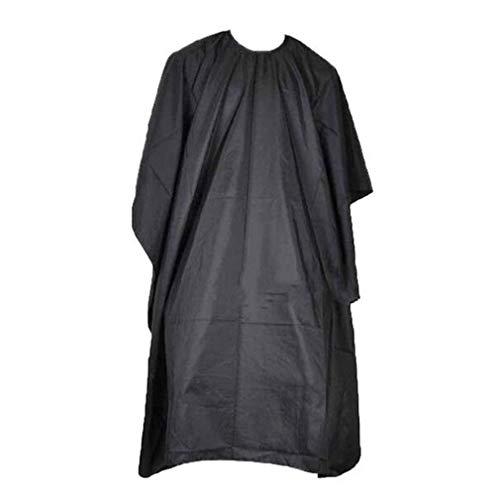 Negro Capa de Peluquería Ajustable Salón Bata de Corte de Pelo Barber Cape Impermeable Paño de Corte de Pelo Delantal de Peluquero por SamGreatWorld
