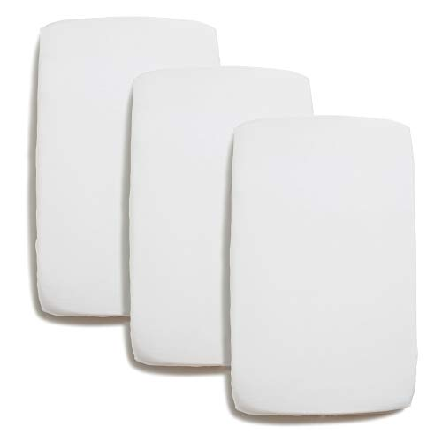 Niimo 2er Pack Kinder Spannbettlaken 60x120 Spannbetttuch 100% Baumwolle + 1 Wasserfester Matratzenschoner bettwäsche kinder fur Babybett mit Abmessungen 60x120 cm (Weiß)