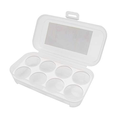 BESTOMZ 8 Eier Aufbewahrungsbox Kühlschrank Ei Halter Container Eierablage (zufällige Farbe)