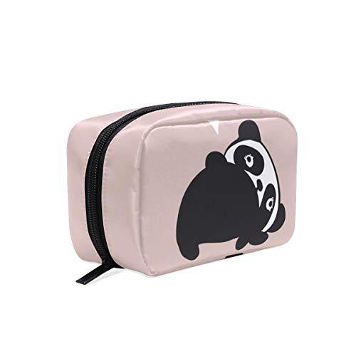 Sac cosmétique avec fermeture à glissière Quel sac de rangement de voyage Panda Clutch Sac de maquillage sac pochette Organizer Case pour femmes