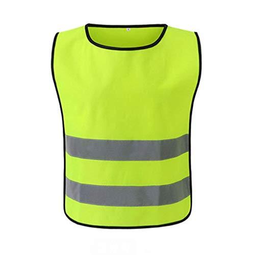 NZQLJT Chaleco Trabajo Sitio de construcción Noche de construcción Chaleco de Alta Visibilidad, Chaleco de protección de Seguridad Laboral, Chaleco Reflectante (Color : Fluorescent Yellow(XL))