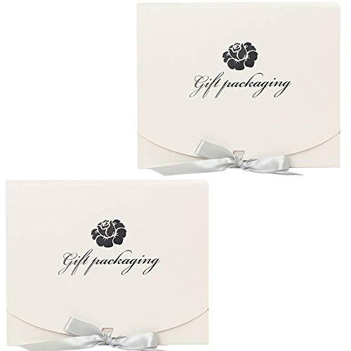 Limeow Deco Box 2 geschenkdoos set 25 × 20 × 5 cm verjaardag geschenkdoos sieraden geschenkdoos ring box oorbellen box ketting sieraden doos sieraden box ornament box