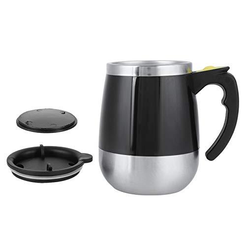 CHICIRIS Taza con agitación automática, Acero Inoxidable Resistente al Desgaste + Taza de café con agitación automática de PP, agitador magnético fácil de operar para Masa de Mezcla de Caldo de