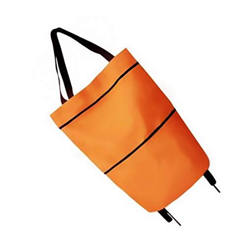 royalr Panno Pieghevole Shopping Bag Pull Spesa con Ruote Panno Pieghevole Portatile Multifunzionale del Sacchetto Donne Bagagli