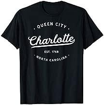 Classic Vintage Retro Charlotte Queen City NC USA Novelty T-Shirt