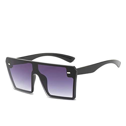 Moda Gafas De Sol De Moda para Mujer Gafas De Sol De Gran Tamaño Protección Cuadrada contra Rayos Ultravioleta Retro Flat Top Gradient Eyewear Gafas Tendencia Hombre Gafas Al Aire Libre Enví