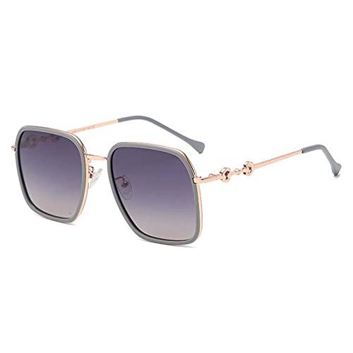 AMFG Gafas de sol polarizadas UV400 Protección gafas de espejo Gafas Gafas de sol para hombres de las mujeres (Color : B, Size : M)