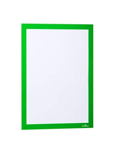 Durable 487205 Info-Rahmen Duraframe (A4, selbstklebend mit Magnetverschluss) 2 Stück grün