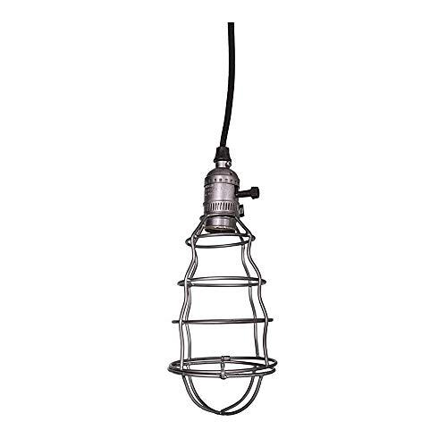Lampe suspension de zinc Cage anthracite noir de style de l'industrie Nostalgie Rétro Vintage Shabby French