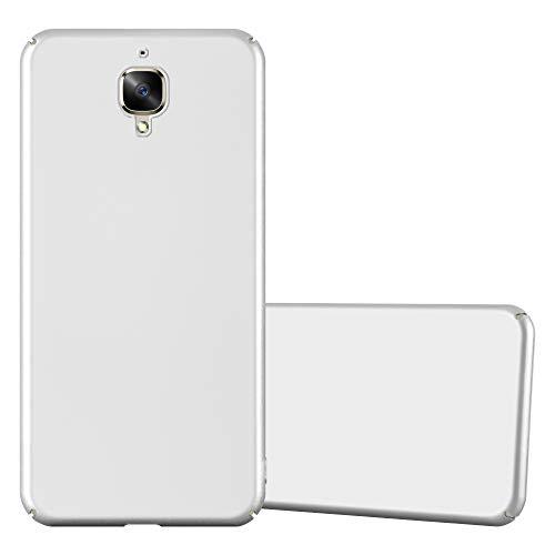 Cadorabo Hülle für OnePlus 3 / 3T in Metall Silber – Hardcase Handyhülle aus Plastik gegen Kratzer und Stöße – Schutzhülle Bumper Ultra Slim Back Case Hard Cover
