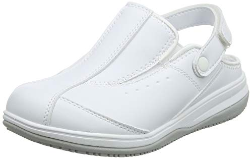 Oxypas Iris, Zapatos de Seguridad Mujer, Blanco (White), 38 EU (5 UK)