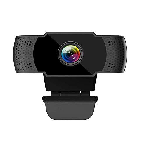 Licyley Webcam 1080P mit Mikrofon Geräuschunterdrückendem,Full HD USB Webcam, Autofokus Belichtungskorrektur Webkamera für Videoanrufe,Spiele,Live-Streaming und Konferenzen mit drehbarem Clip