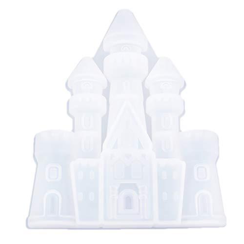 Milageto Maiale 3D per Ciondoli di Gioielli Fai-da-Te Epossidici in Resina Colata - Castello