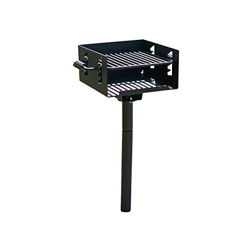 TITAN GREAT OUTDOORS Outdoor Park-Style Charcoal Grill for Camping and Cookouts, BBQ Accessories