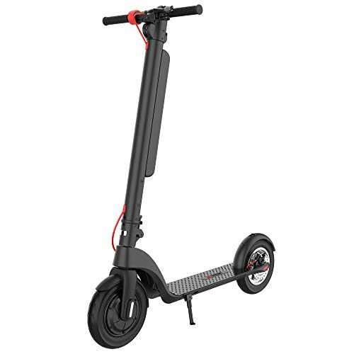 """TURBOANT Folding Electric Scooter X7 Pro with Detachable Battery Pack, 10"""" Tubed Pneumatic Tires, 350W Motor Max 30 Miles Long-Range 20 MPH Speed, Portable Commuting Scooter for Adults Students"""