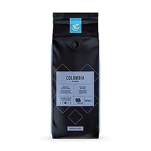 """Marque Amazon - Happy Belly Café torréfié en grains """"COLOMBIA"""" (2 x 500g)"""