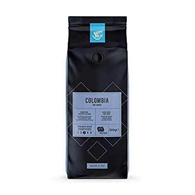 Happy Belly Coffee Beans Colombia, 2 x 500g