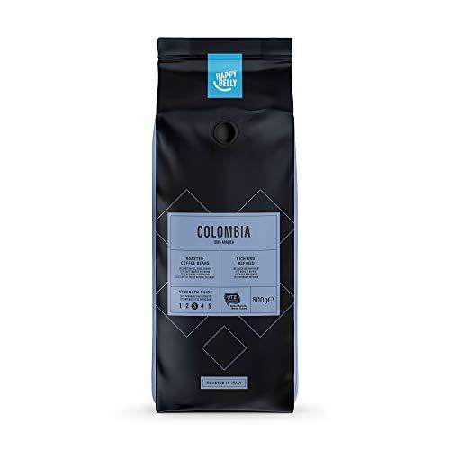 Marca Amazon - Happy Belly Café de tueste natural en grano 'COLOMBIA' (2 x 500g)