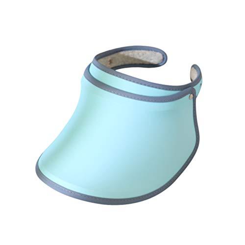 BESPORTBLE Gorra de Visera para Mujer Sombrero de Playa con Protección UV - Gorra de Protección Solar Impermeable para Senderismo en La Playa Golf Tenis Pesca Al Aire Libre