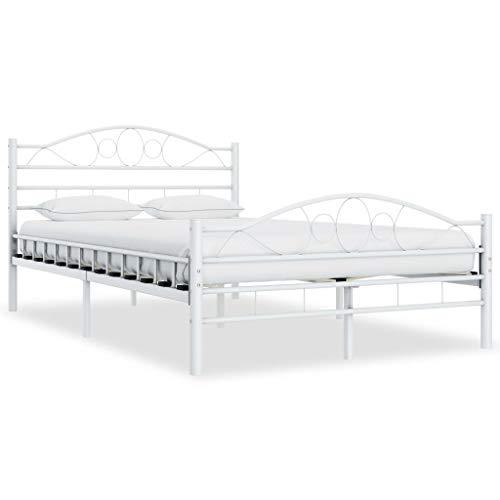 vidaXL Estructura de cama de metal blanco 120x200 cm
