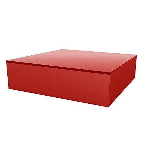 Vondom Quadrat Table Basse pour l'extérieur 120x120 h.32 cm Rouge
