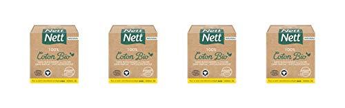 Nett Tampons avec Applicateur Normal Boite Bio 16 Pièces - Lot de 4