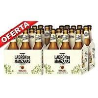 Ladrón de Manzanas Cider - 4 Pack de 6 Botellas x 250 ml (Total: 24 botellas de 250 ml 6 L)