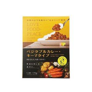 無添加 レトルト ベジタブル ヘルシー キーマカレー レギュラー (中辛) 170g ×10袋セット (植物素材にこだわった レトルトカレー 創健社 自然食品)