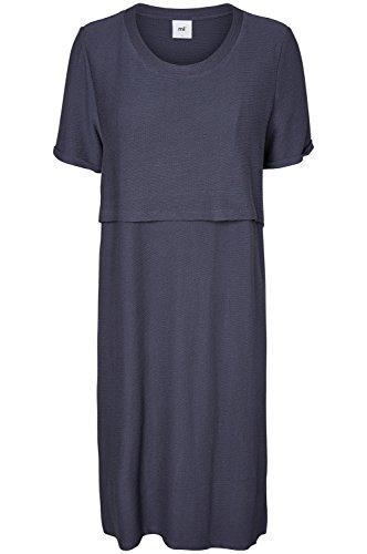 MAMALICIOUS Damen Umstandskleid Mlmilja June S/S Jersey Dress Nf, Blau (Ombre Blue Ombre Blue), 40 (Herstellergröße: L)