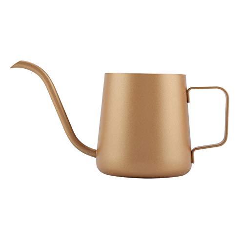Taza de café generosa fácil de sostener, tetera elegante, hervidor de café para verter, cocina para el hogar(Coffee gold)
