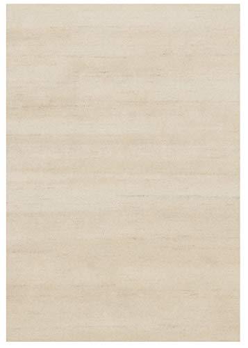 SONORA TAURI handgeknüpfter Nepal Teppich Wolle in beige, Größe: 90x160 cm