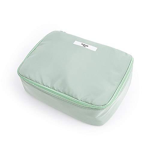 PoplarSun Maquillage Femmes Sac étanche de Grande capacité Voyage Organisateur cosmétique Sac Neceser Rose Wash Sacs Portable Toilette Make Up Pouch (Color : Green)