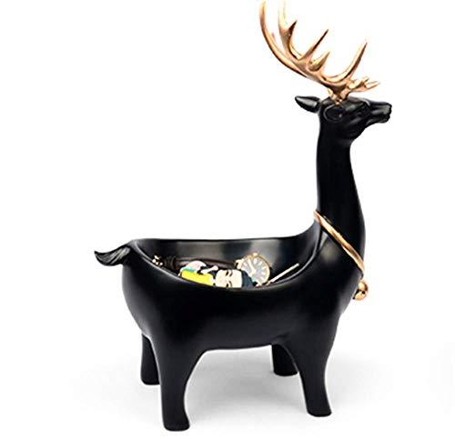 SD&EY Deur Veranda Opbergdoos Elk Sleutel Opslag Ornamenten Creatieve Huis Meubels Woonkamer Decor Zwart