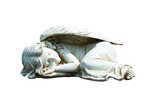 Joseph's Studio by Roman - Sleeping Angel Statue, 5' H, Garden Collection, Resin and Stone, Decorative, Religious Gift, Home Outdoor and Indoor Decor, Durable, Long Lasting