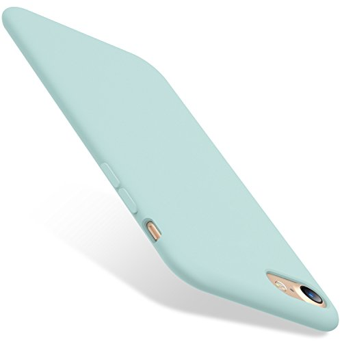 TORRAS [Love Series] iPhone SE Case 2nd/ iPhone 7 Case/iPhone 8, Liquid Silicone Gel Rubber Case Soft Microfiber Compatible with iPhone 8/ iPhone 7/ iPhone SE 2nd Generation, Mint