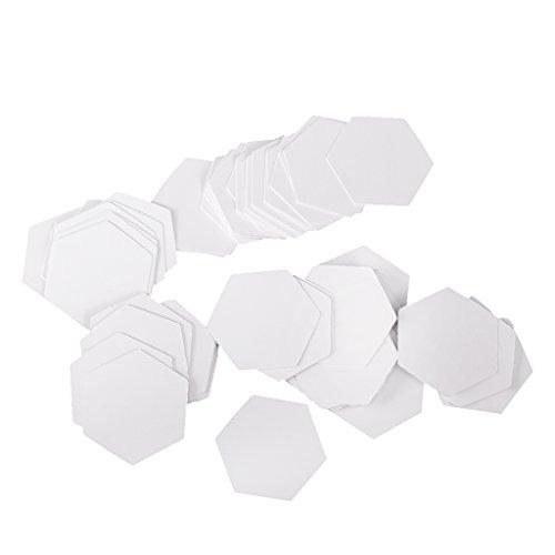 FITYLE 100 stuks zeshoek blanco papier quilten sjablonen Engels papier Piecing Patchwork Craft – 10mm