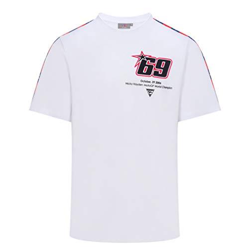 Nicky Hayden 69 Moto GP Motors of America Blanco Camiseta Oficial 2019