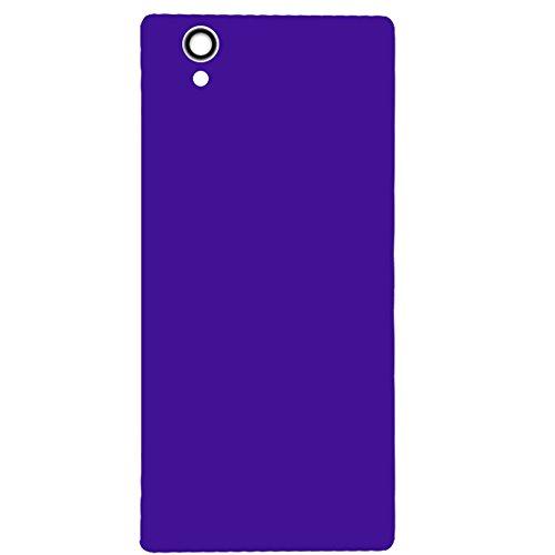 UU FIX Tapa trasera de batería para Sony Xperia Z1 L39h C6903 LT39H (morado) panel trasero de batería de repuesto para lente de puerta de reparación de batería trasera de cristal carcasa