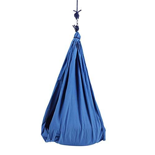 Bluelliant Hamaca Oscilación Columpio De Terapia Tela Colgante Infantil De Jardin Exterior Interior para Niños con Necesidades Especiales con Autismo Capacidad De Carga 80 Kg (Azul)