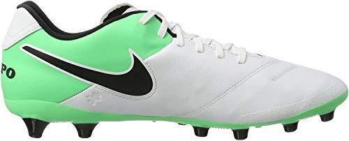 Nike Tiempo Genio.II Leather AG-PRO, Scarpe da Calcio Uomo, Bianco (White/Black-Electro Green), 44 EU